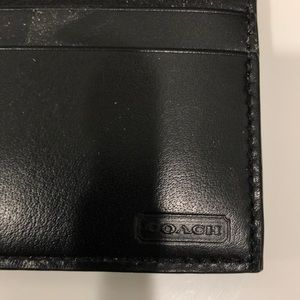 Black Coach clip on card holder
